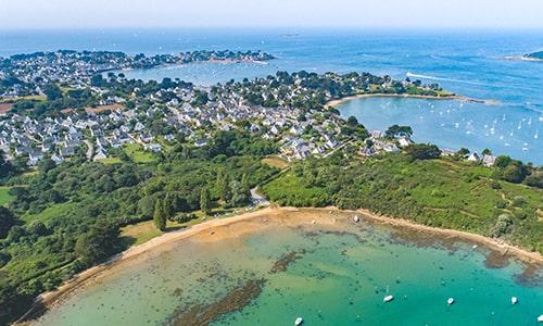 Aerial-view-Morbihan-Gulf